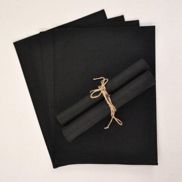 outdoor batyline placemat sets black