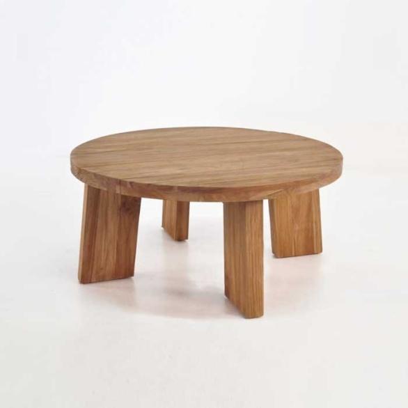 Blok Round Reclaimed Teak Coffee Table-0
