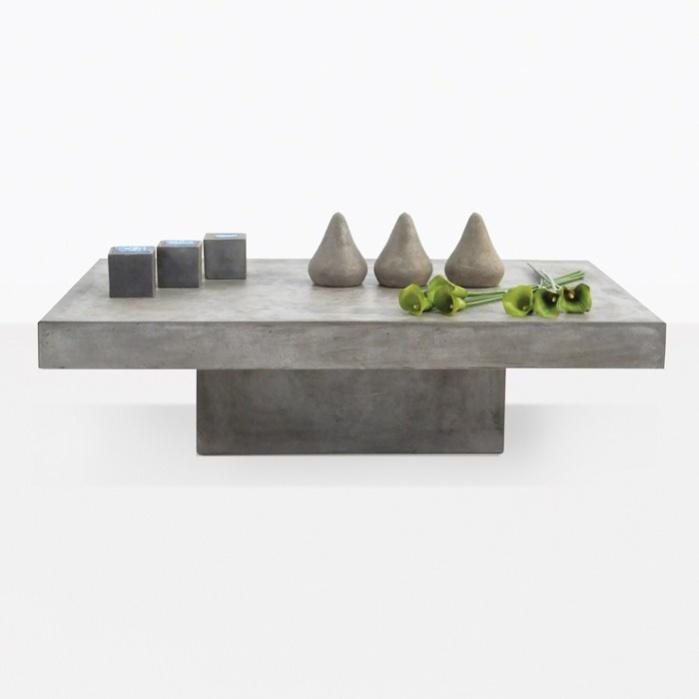 Blok Concrete Rectangle Coffee Table 0