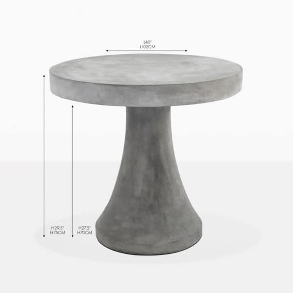 blok round concrete bistro table