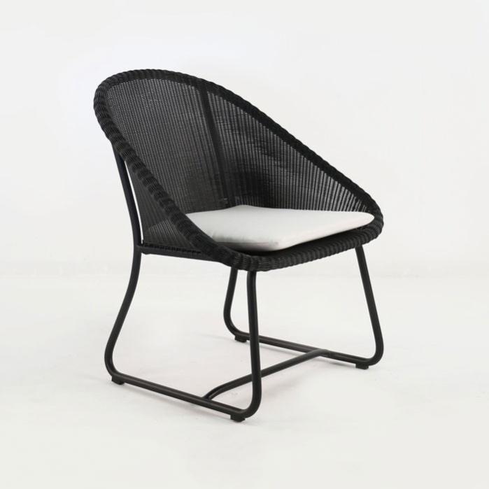Breeze Outdoor Wicker Relaxing Chair (Black)-0
