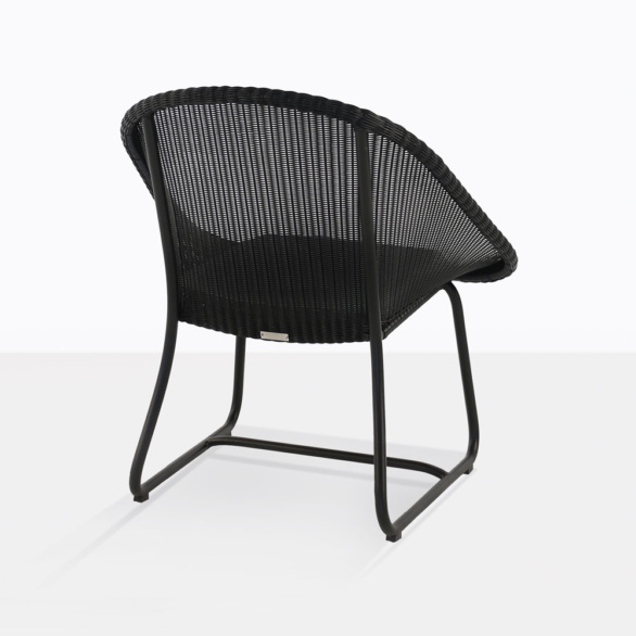 Breeze Black Wicker Chair Back