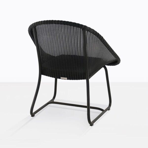 Breeze Black Wicker Chair Back