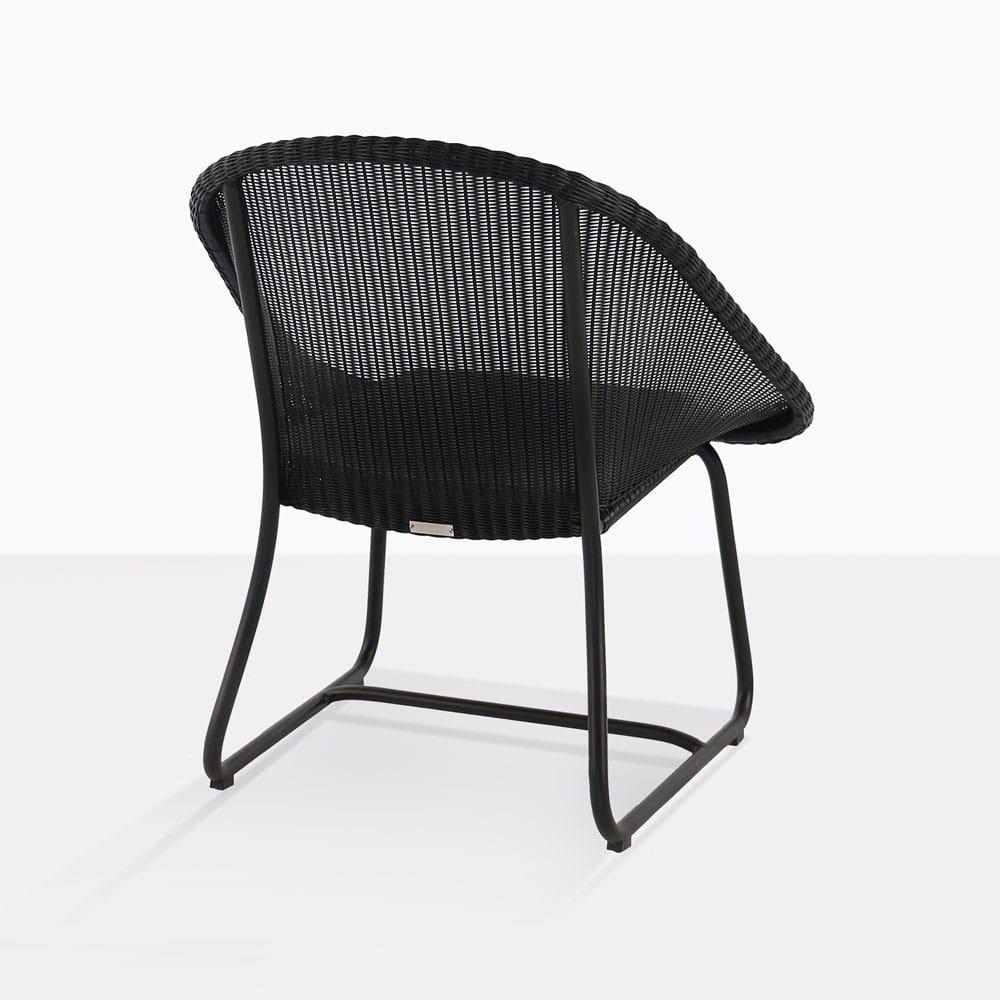 Breeze Outdoor Wicker Relaxing Chair Black Teak Warehouse