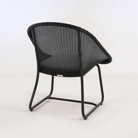 breeze outdoor wicker relaxing chair black