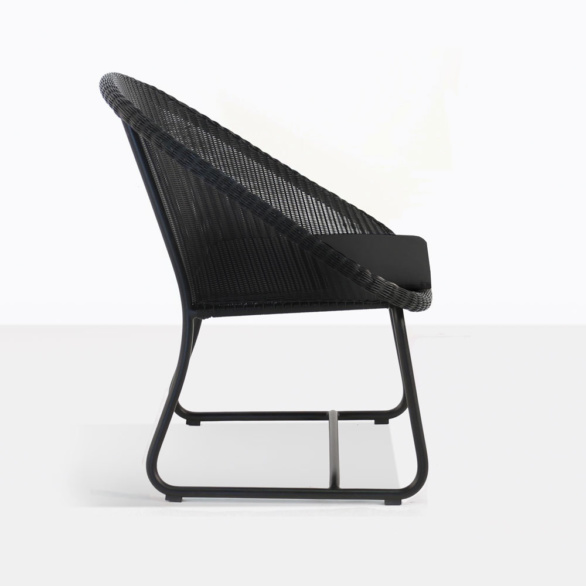 Breeze Black Wicker Outdoor Chair Side