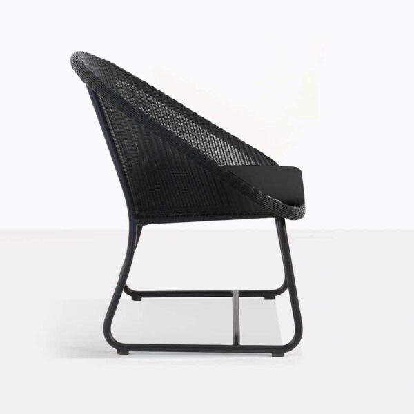Breeze Black Wicker Outdoor Chair Side