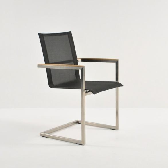 Outdoor Dining Set - bruno batyline stacking chair black