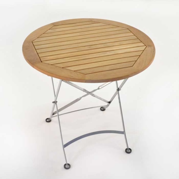 cafe round folding table top view