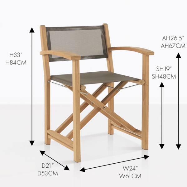 cannes folding teak directors chair