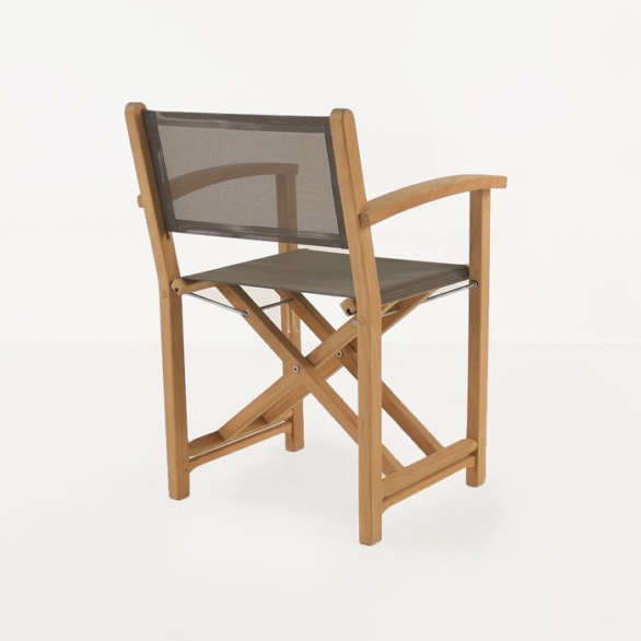 directors teak dining chair back view