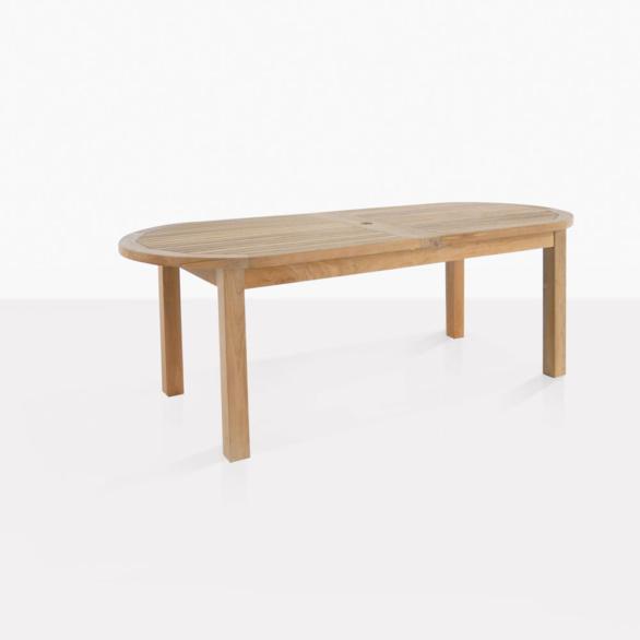 Capri Teak Oval Dining Table