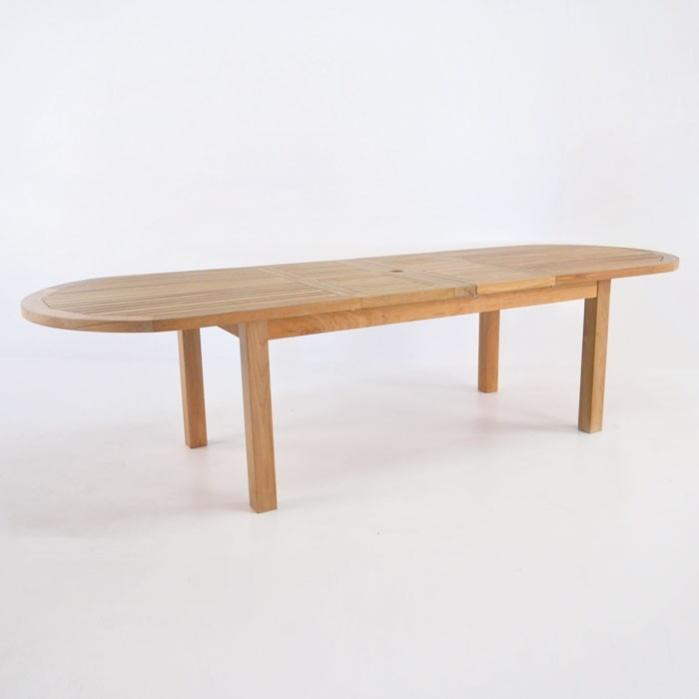 Capri Oval Teak Double Extension Tables 0