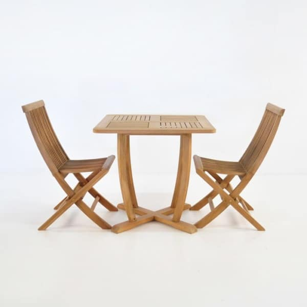 Set Teak Dining | Cayman Teak Table with 2 Prego Chairs-0