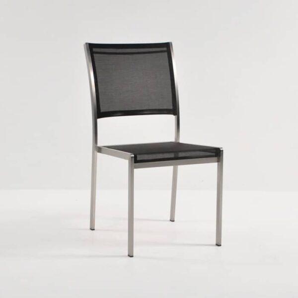classic black batyline stacker chair