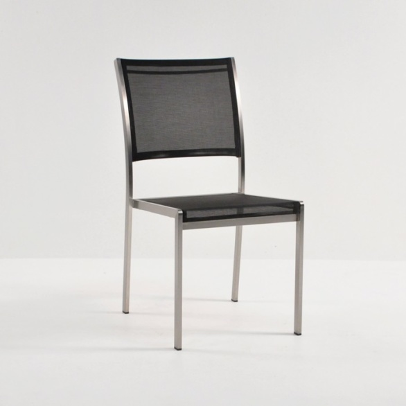 outdoor dining set black batyline stacker chair