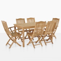 Kensington Teak Dining Set For 6