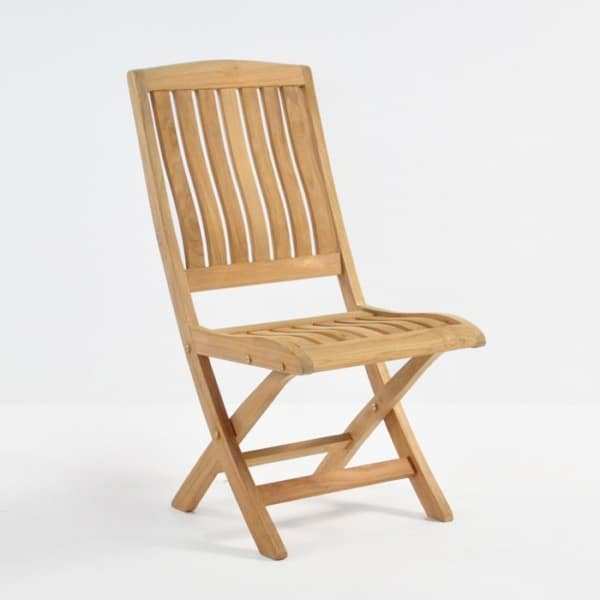como teak folding side chair