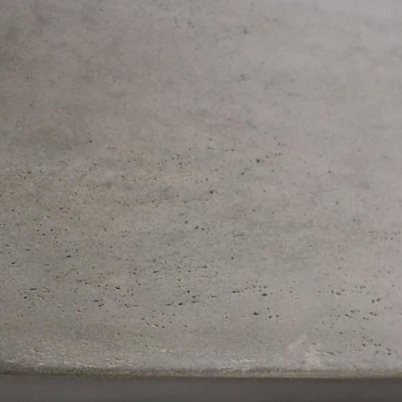 raw concrete bench closeup