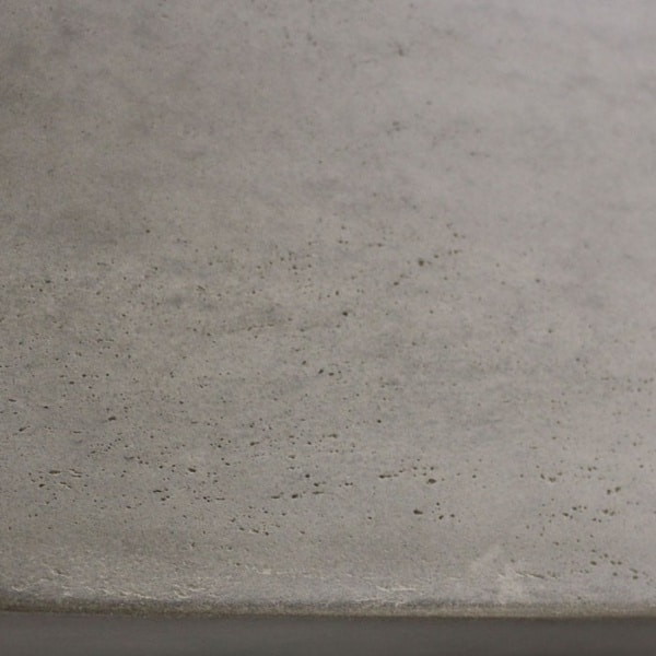 raw concrete bench closeup