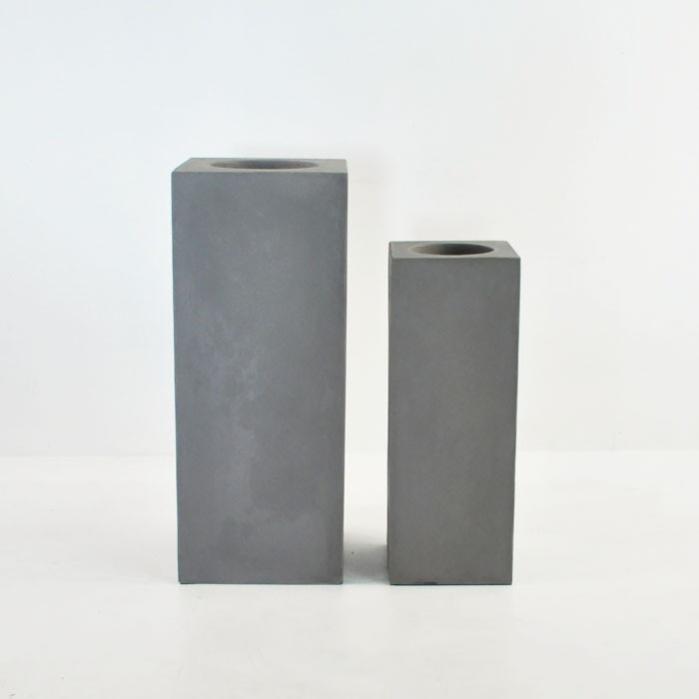 Raw Concrete Flare Pillars-0