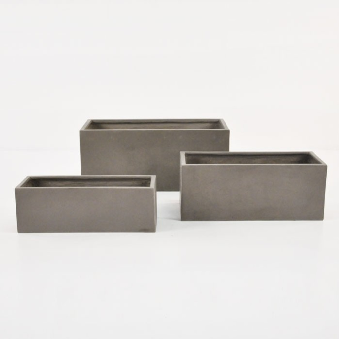 Raw Concrete Planter (Rectangle)-0