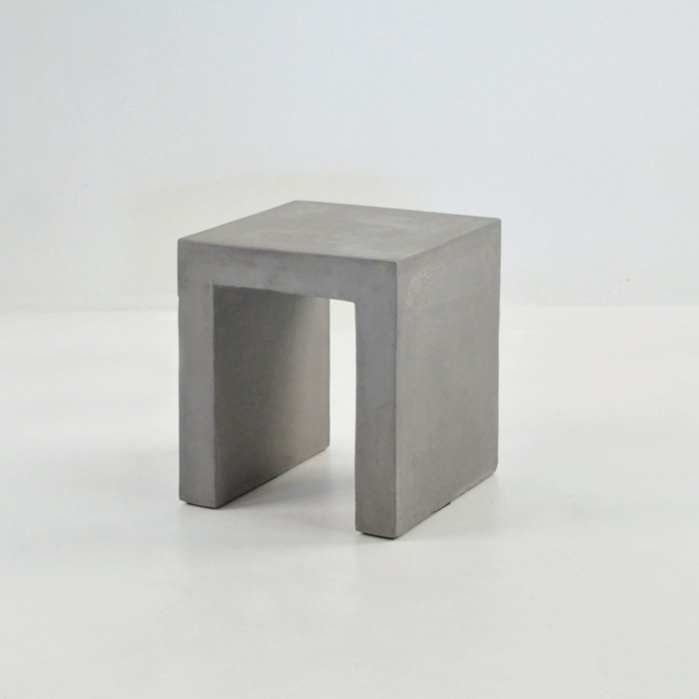Raw Concrete Side Table/Stool (Square)-0