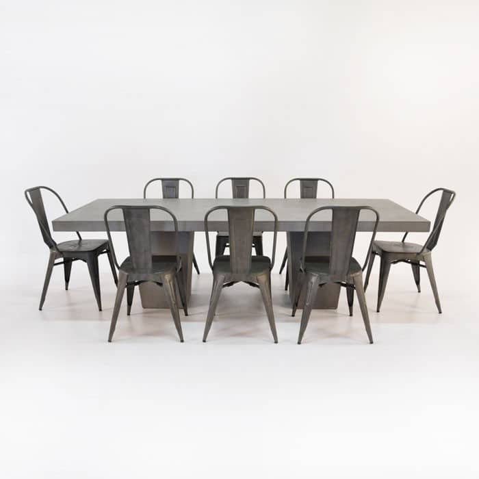 Concrete Dining Set Concrete Table With 8 Alix Chairs
