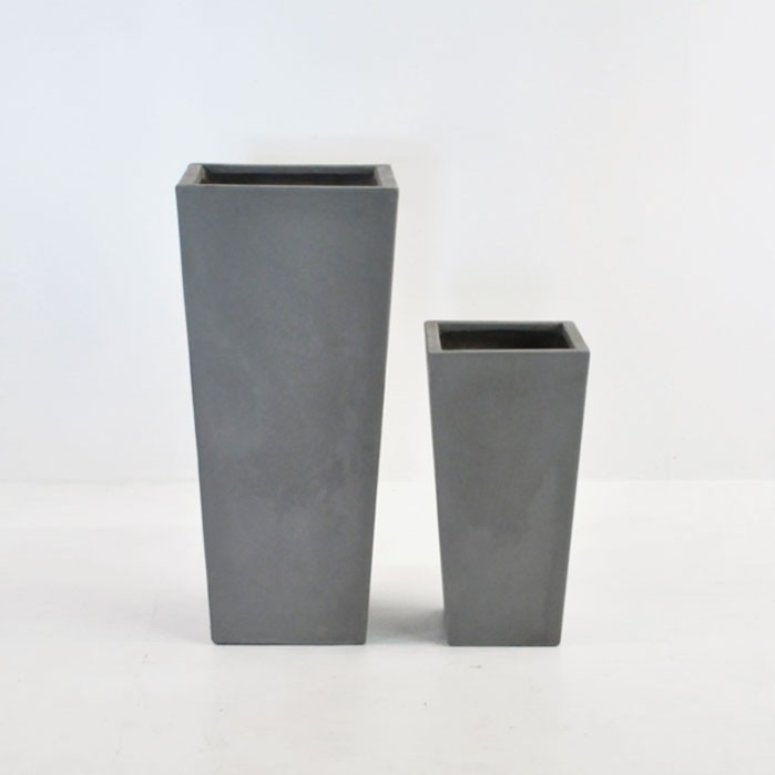 Raw Concrete Planter (Tapered)-0