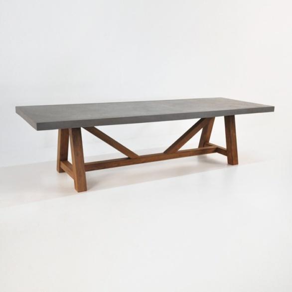 concrete trestle table