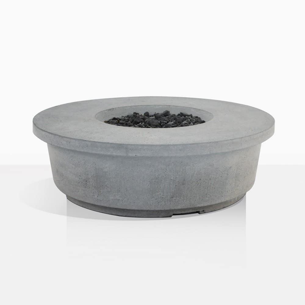 contempo round concrete fire pit