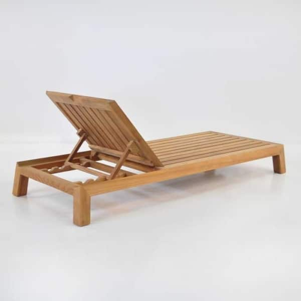 contempo teak chaise lounge back angle view