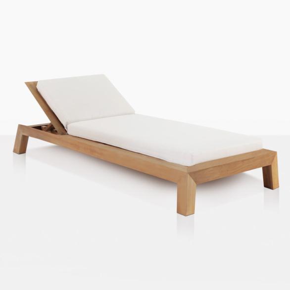 Contempo Teak Adjustable Sun Lounger With Cushion