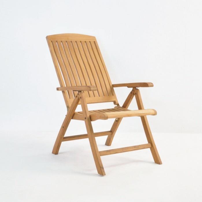 Dorset Teak Relaxing Reclining Chair-0