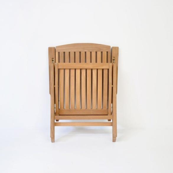 dorset teak reclining chair folded