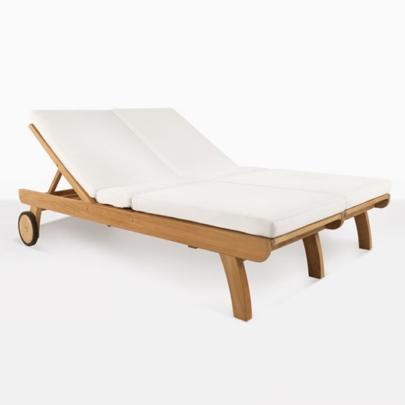 Teak Double Sunbed for two people