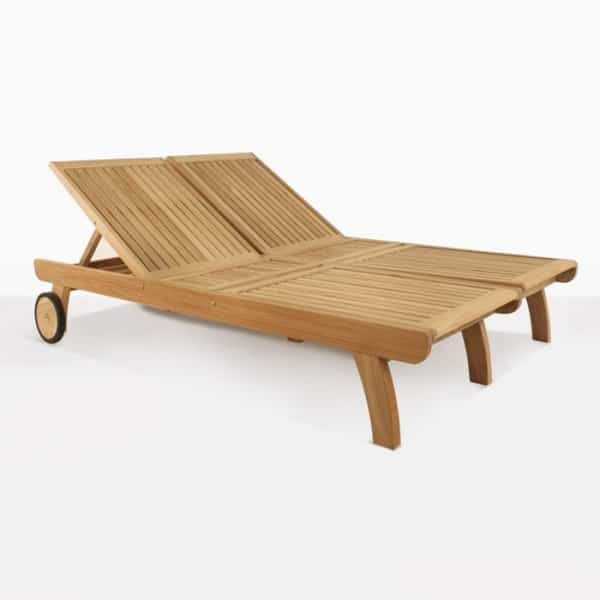 Teak Double Sundbed without cushion