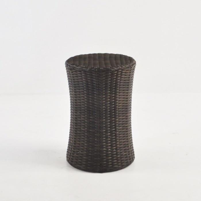 Drum Wicker Side Table (Java)-0