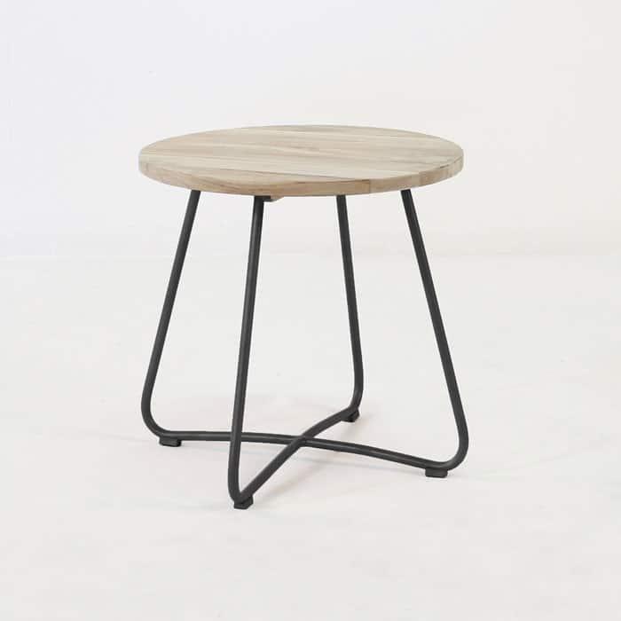 Driftwood Teak Table: East Side Table (Black)