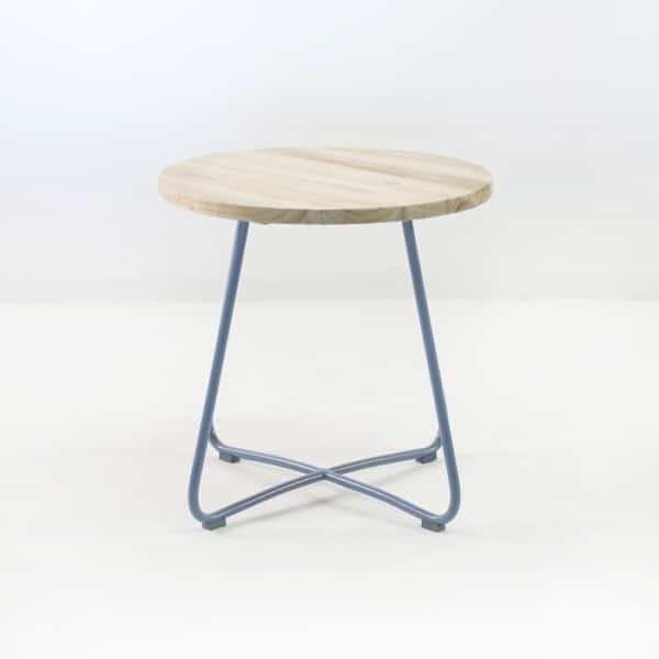 east side table blue side view