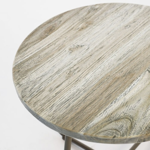 east side table pebble silver