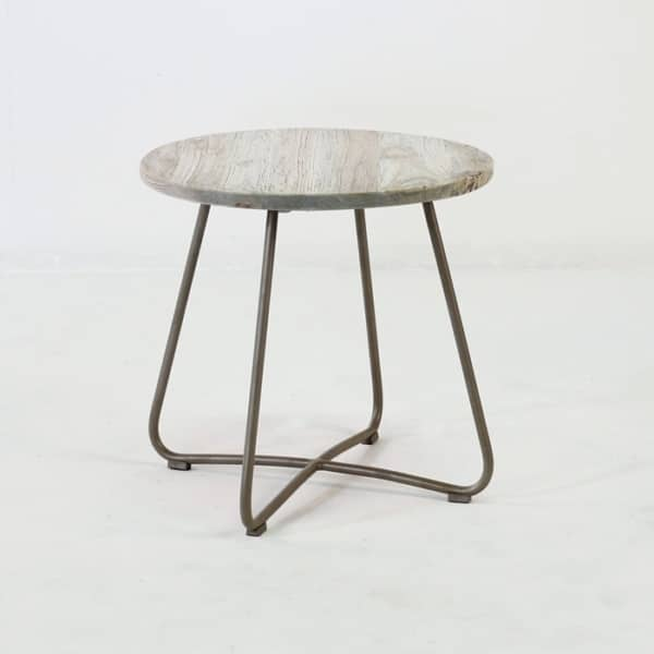 East Silver Aged Side Table (Pebble)-0