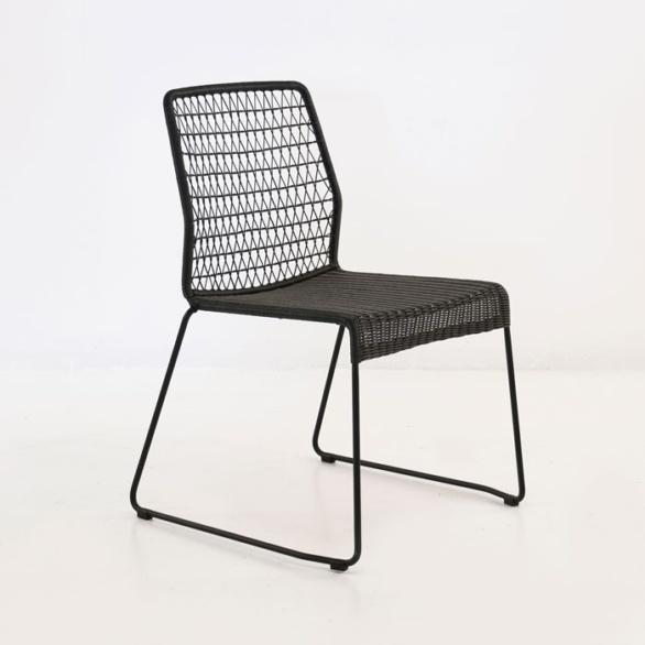 edge wicker side chair