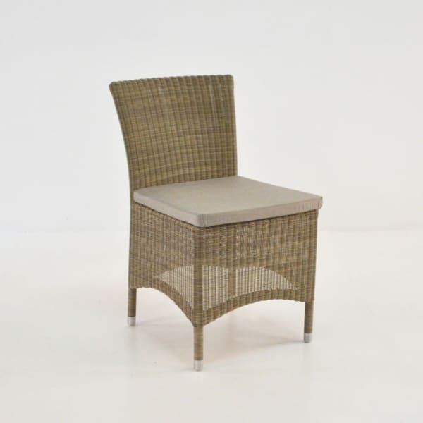 enna wicker side dining chair