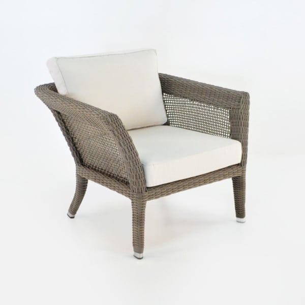 George Relaxing Wicker Arm Chair (Kubu)-0