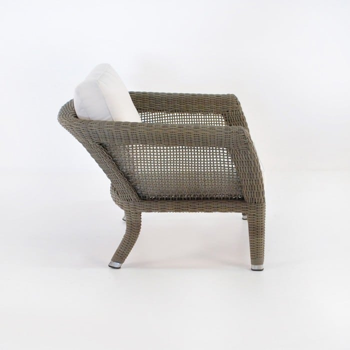 George Wicker Arm Chair Kubu Relaxing Chairs Teak