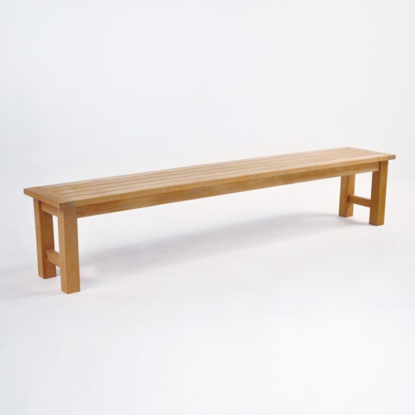 hampton teak backless bench 90 in