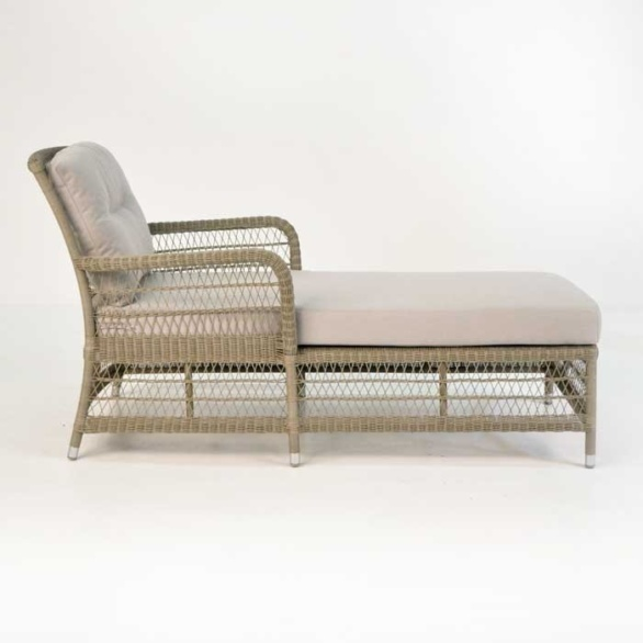 ... Hampton Wicker Chaise Lounge Pebble Side View ... Part 54