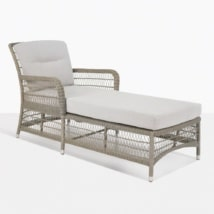 Hampton Wicker Sun Lounger With Cushion