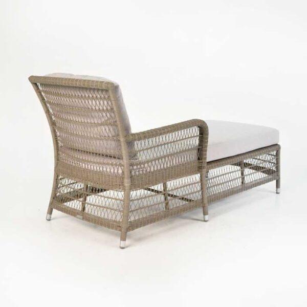 hampton wicker chaise lounge pebble back angle view
